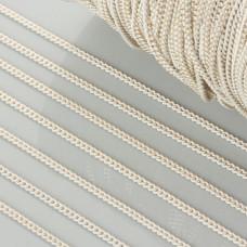Łańcuszek pancerka dodatkowo platerowana w kolorze biało-złotym 2mm