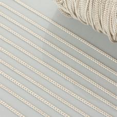 Łańcuszek pancerka dodatkowo platerowana w kolorze biało-złotym 1.5mm