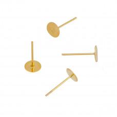 Sztyfty z talerzykiem złocone 12mm