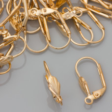 Bigle angielskie muszelki real gold color 20mm