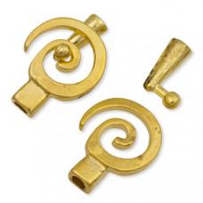 Zapięcie złote spirala 30x21mm