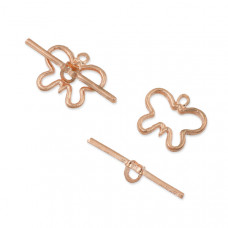 Zapięcie toggle motylek rose gold 20mm