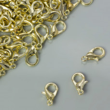 Karabińczyki light gold 12mm