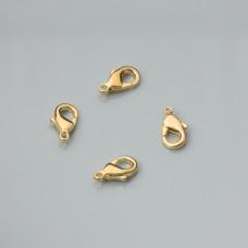 Karabińczyki light gold 10mm