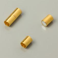 Zapięcie magnetyczne rurki koloru złotego 6mm