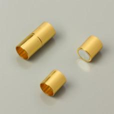 Zapięcie magnetyczne rurki koloru złotego 10mm