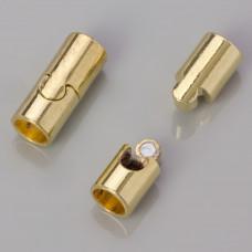 Zapięcie magnetyczne puzzel kolor złoty 8mm