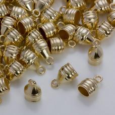 Rowkowane końcówki do rzemieni i sznurków 13x11,5mm