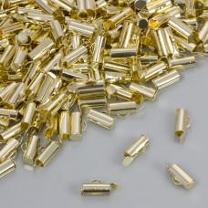 Końcówki w kolorze złotym do płaskich bransoletek 9.5x4mm