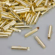 Końcówki w kolorze złotym do płaskich bransoletek 20.5x4mm