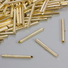 Końcówki w kolorze złotym do płaskich bransoletek 40.5x4mm
