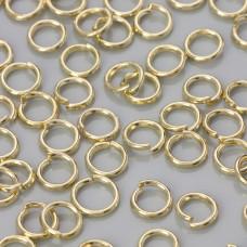 Kółeczka zaciskowe light gold 6x1mm