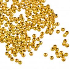 Kulki gładkie w kolorze złotym 3mm