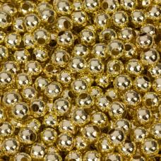 Kulki gładkie w kolorze złotym  6mm