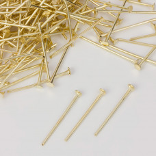 Szpilki z płaską główką w kolorze złotym  20mm