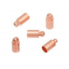 Końcówki do rzemieni i sznurków w kolorze rose gold 9x3,5mm