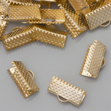 Końcówki zaciskowe szczęki real gold color 6x13mm