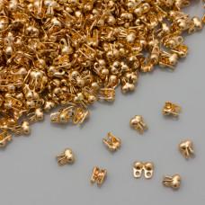 Łapaczki końcówki dziewczynki boczne real gold color 3,5x2mm