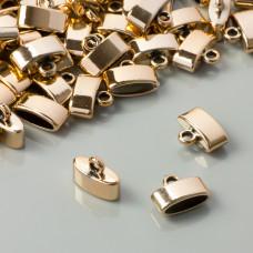 Końcówki owalne do rzemieni real gold 12x4mm