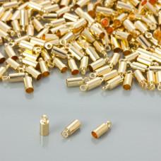 Końcówki do rzemieni kolor złoty 3mm
