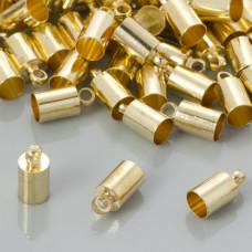 Końcówki do rzemieni kolor złoty 4,5mm