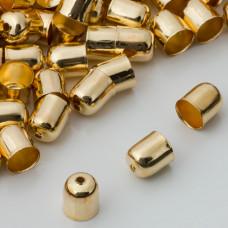 Końcówki do bransoletek naparstki z otworem 7mm