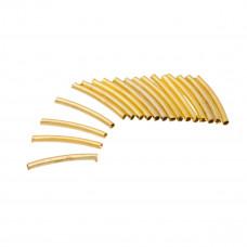Rurki pozłacane łuk 1,5mm x 1,5cm