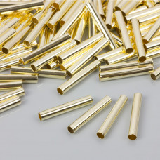 Proste rurki w złotym kolorze 25x4mm