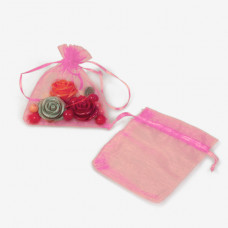 Woreczek z organzy do biżuterii 13x18cm różowy