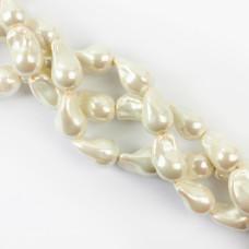 Perły seashell baroque 23mm