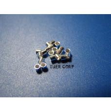 Zaciski srebrne 1,5x2mm