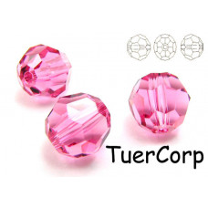 Swarovski kula 8mm rose