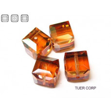 Swarovski kostka 6mm copper