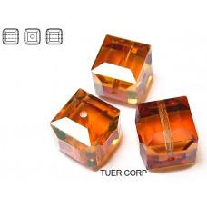 Swarovski kostka 8mm copper