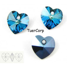 Swarovski heart 10mm bermuda blue