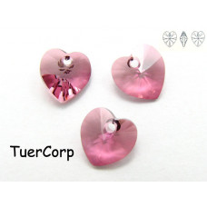 Swarovski heart 10mm antique pink