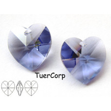 Swarovski heart 14mm tanzanite
