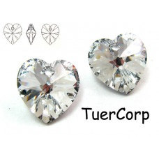 Swarovski heart 14mm comet argent light