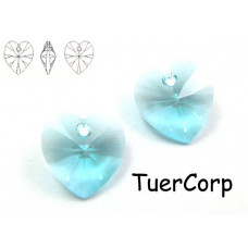Swarovski heart 14mm aquamarine