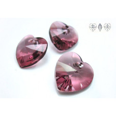 Swarovski heart 14mm antique pink