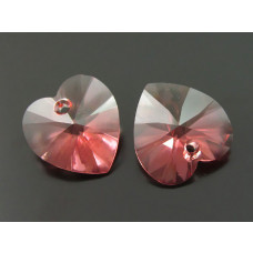 Swarovski heart 14mm peach rose