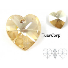 Swarovski heart 18mm golden shadow