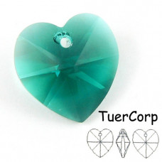 Swarovski heart 18mm emerald