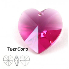 Swarovski heart 18mm fuchsia