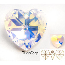 Swarovski heart 28mm crystal AB