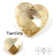 Swarovski heart 28mm golden shadow