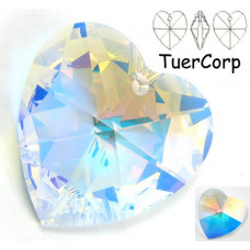 Swarovski heart 40mm crystal AB