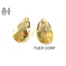 Swarovski pear-shaped 22mm golden shadow