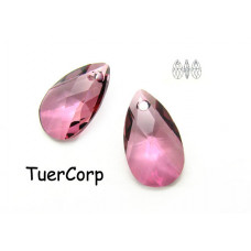 Swarovski pear-shaped 22mm antique pink