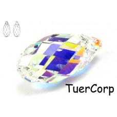 6010 briolette pendant, SWAROVSKI, crystal AB 17mm
